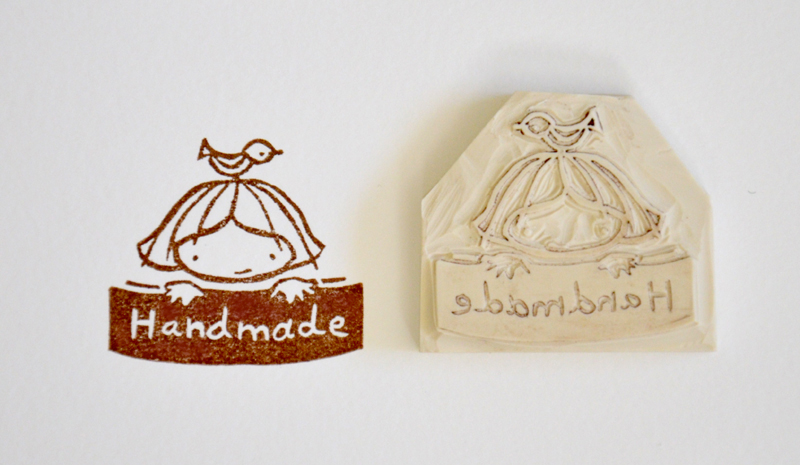Hand Carved Rubber Stamp Handmade